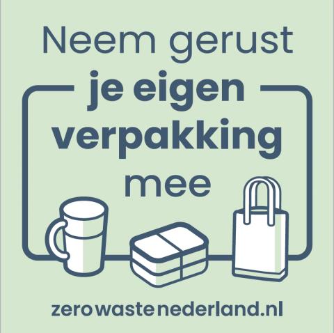 Zere waste sticker via Jouw Dagelijkse Kost
