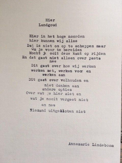 gedicht landgoud