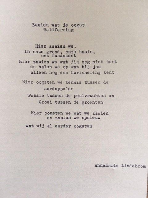gedicht waldfarming