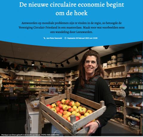 De nieuwe circulaire economie begint om de hoek - Friesch Dagblad